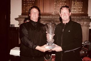 Brian Mathews (left) and Justin Hatcher won the Morecambe Bay Golf Festival