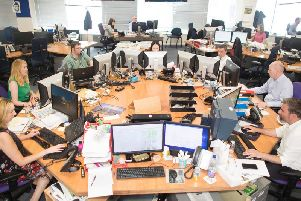 The newsroom of The Herald, in Glasgow