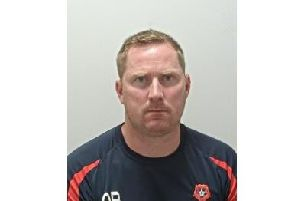 Stalker Adam Brook, 39, from Fleetwood, was jailed and given a 10-year restraining order after subjecting his ex-partner to months of abuse. Photo: Lancashire Police