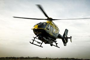 A police helicopter joined RNLI and coastguards after reports of a body in the River Wyre at Thornton