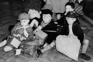 A group of children evacuated from Salford to Blackpool during the Second World War