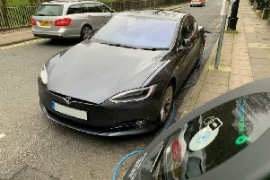 Drivers of electric vehicles can now find a place to park and plug-in when visiting most of Lancashire's town centres thanks to a project to install 150 on-street charging points. This one is situated at Preston's Winckley Square