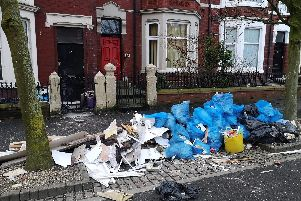 The untidy mess left on Bold Street in Fleetwood