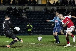 Paddy Madden scores Fleetwood's winner at Wycombe Wanderers