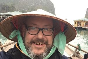 Neil Callaghan, 50, from Blackpool, fears he may have caught the coronavirus after touring Vietnam for a month (Picture: Neil Callaghan)