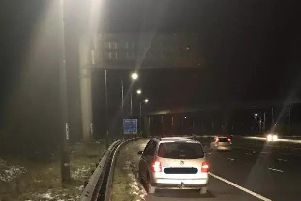 Police seized the car on the M62