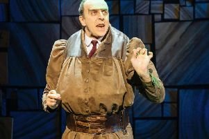 Craig Els as Miss Trunchbull in Matilda The Musical's UK tour