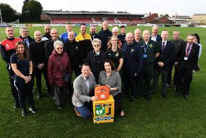 Launch of the partnership at the Lancashire F.A.