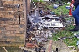 Damage at the Fleetwood Nursing Home
