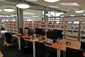 Inside the newly refurbished library, which will reopen later this month