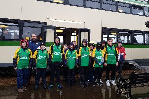 Fleetwood Rugby Club under 12's walked from North Pier to the North Euston Hotel to raise money for a tour in April.