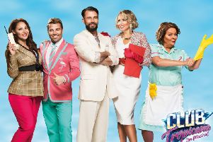 Leading line-up of Club Tropicana the Musical with X factor winner Joe McElderry