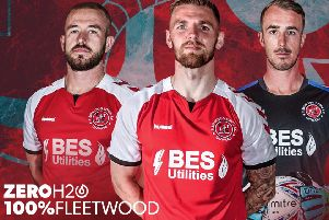 Paddy Madden, Ash Eastham and Alex Cairns model Town's new kit