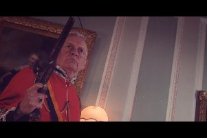 One of the scenes from the short film, Redcoat, filmed at Lytham Hall
