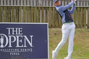 Callan Barrow of Royal Lytham and St Annes in final qualifying for The Open at St Annes Old Links   Picture: DANIEL MARTINO