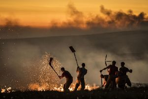 Firefighters tackling a wildfire on Winter Hill last summer (Picture: Danny Lawson/PA Wire)