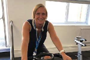 Louise Ruman joined colleagues at Hesketh House for cycling moneyspinner for charity