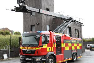 The 'stinger' fire engine which will be based at Skelmersdale Fire Station. Lancashire Fire and Rescue Service is asking the public to give it a name.