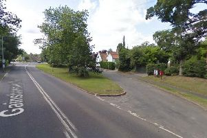The A156 at Lea