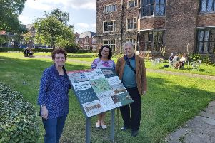 Renowned Pilgrim historian Dr Jeremy Bangs (right), Director of the Leiden American Pilgrim Museum, on a recent visit to see the new trail.