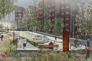 An artist impression of the proposed riverside homes development.