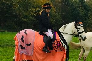 Alyssia on her fancy dress pony.