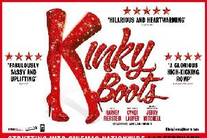 Kinky Boots is being shown on screen at Trinity Arts Centre next month.