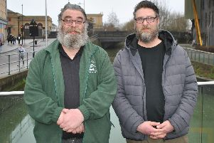 The Bearded Fishermen Mick Leyland (left) and Rick Roberts (right)