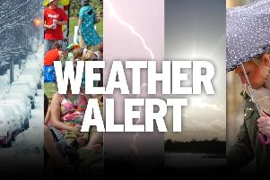A yellow weather warning has been issued for the East Midlands.