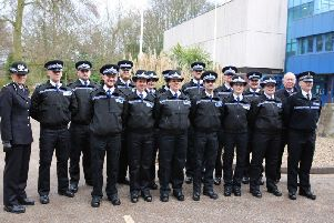 14 Police Community Support Officers (PCSOs) paraded in front of friends and family at Nottinghamshire Police Headquarters on Friday 23 February 2018 at their passing out ceremony.