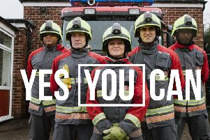 Notts firefighter recruitemnt campaign.