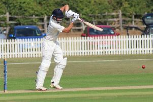 Jack Timby on his way to a magnificent 124 for Lincolnshire against Northumberland.