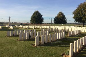 Visit commemorated centenary of relative's death in WWI
