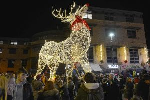 Large crowds at the Christmas lights switch-on in Gainsborough last year.