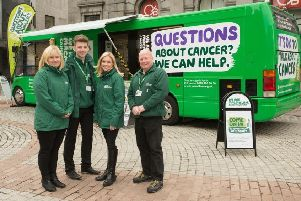One of the Macmillan Cancer Support information buses that tour the country.