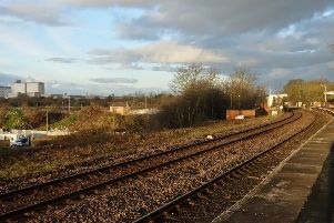 The site has been cleared for the new platform two at Lea Road Station