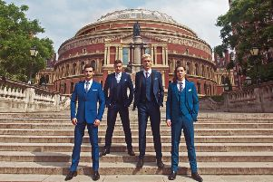 Collabro will perform at the Baths Hall next week on their new UK tour