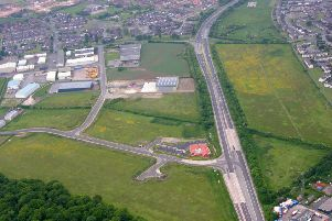 An aerial view of the site at Somerby Park in Gainsborough.