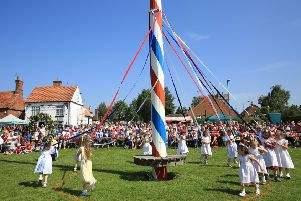 Maypole dancing is one of the traditions that marks the start of May. Photo: Chris Etchells