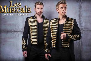 Jonathan Ansell and Jai McDowell star in Les Musicals.