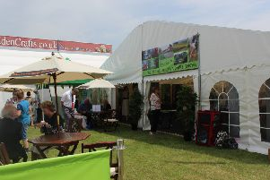 The West Lindsey District Council marquee at the Lincolnshire Show.