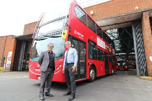 Carlos Vicente with Stephen Bond from Arriva London.