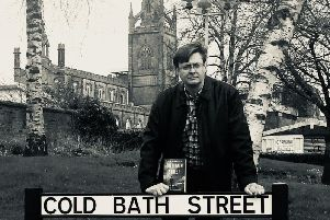 A.J.Hartley pictured by the Cold Bath Street sign