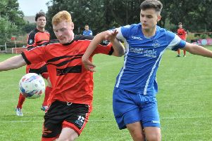 Ric Coar opened the scoring as Garstang won their Macron Cup tie at the weekend