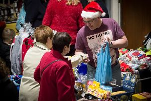 The annual Christmas market at the Marine Hall, Fleetwood