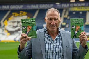 Ross with copies of his new book at Preston North End