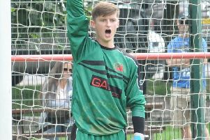 Garstang keeper Will Kitchen kept up his fine record of saving penalties against Nelson last weekend