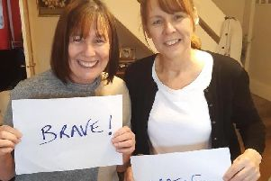 Sisters Diane (left) and Nadine after the transplant operation.