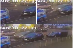 Police released CCTV of the accident as a warning to others