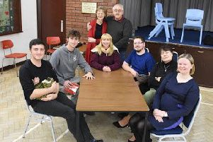 The cast for Grimsargh Players' Spring and Port Wine.